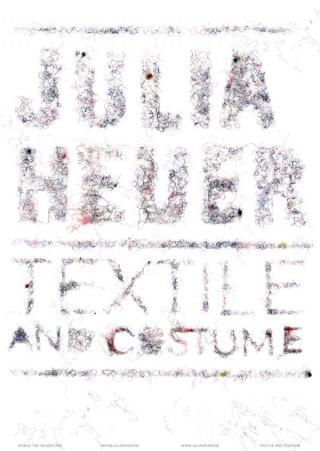 Promotionposter für die Textildesignerin Julia Heuer | Katja Schloz