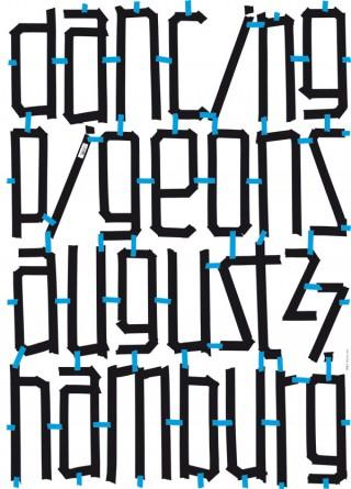 Plakat für die Elektroband Dancing Pigeons | Zwölf
