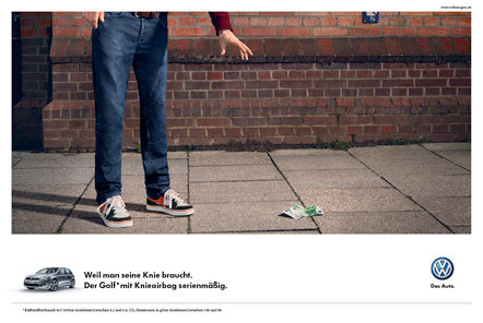 Bild Kampagne Knieairbag