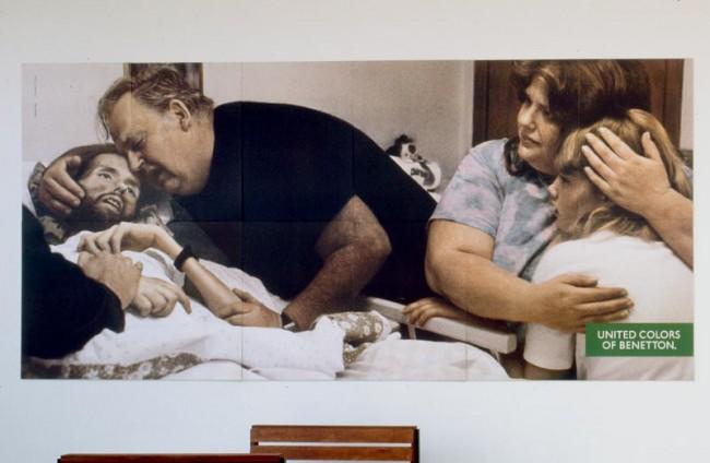 Oliviero Toscani Aidskranker und Familie, 1992