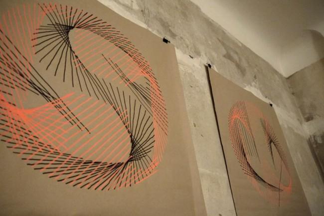 Zeichnungen, die aus dem generativem vvvv-patch von Ingo Italic extrahiert wurden