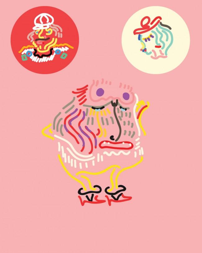 Andauerndes Illustrationsprojekt von Gerrit Grotesk aka uglystupidhonest.com, der jeden Tag einen Kreis füllt (http://uglystupidhonest.tumblr.com/)
