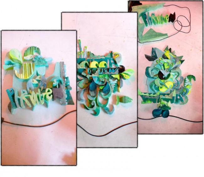 Analoge 3D Illustrationen, bestehend aus einem modularem Baukasten-System. Von Bärbel Bold