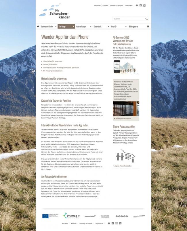 Webseite zur Ausstellung
