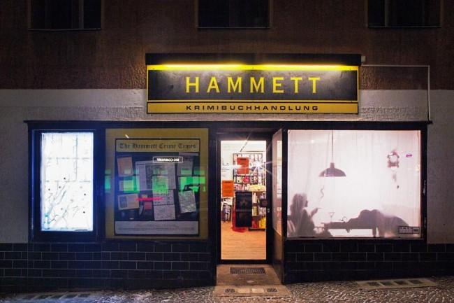 Hammett Krimibuchhandlung, gestaltet von: Maria Schwermer