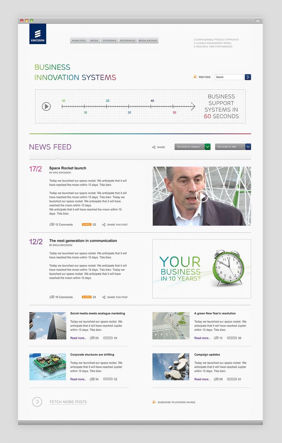P Ericsson Website