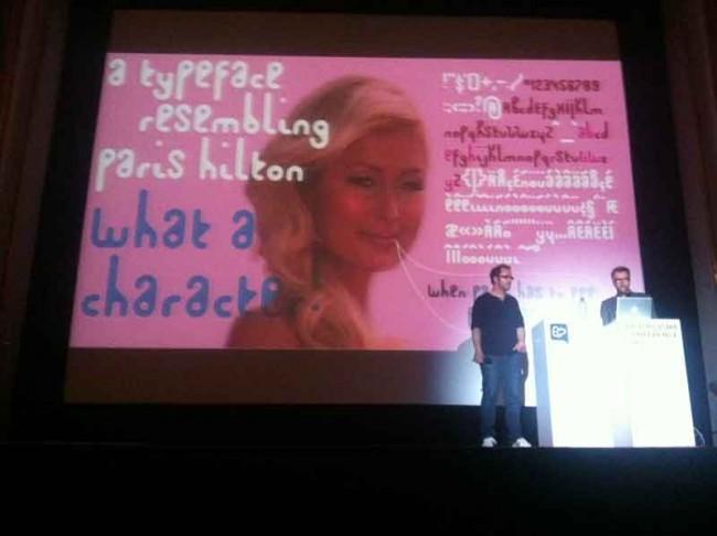 Paris Hilton Typo der Sauerkids