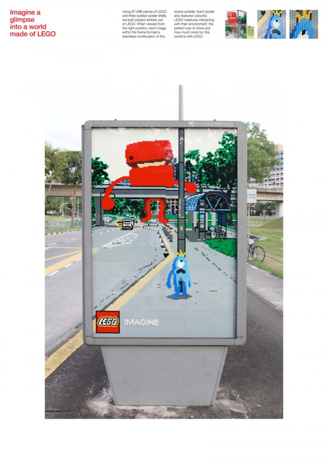 Graphic Design: »Lego« von Ogilvy & Mather Malaysia für Lego in Singapur