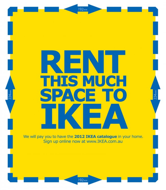 Direct: »Rent« von 303 Group (Sydney) für IKEA