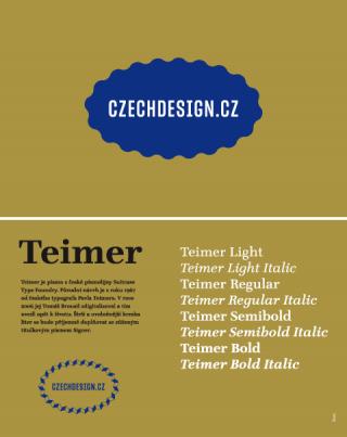 Entwurf für ein nationales Design Branding von Anežka Ciglerová