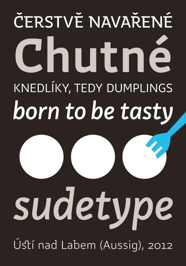 Jiri Toman aus Ústí nad Labem hat gerade mit Studienkollegen das Label Sudetype begründet – erstes Lebenszeichen ist sein Font Dumpling