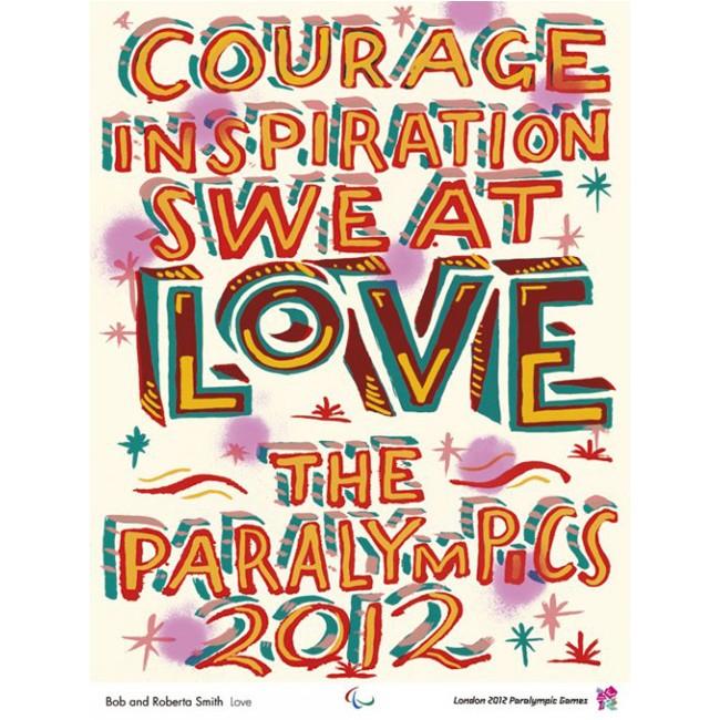 Paralympic poster - Bob and Roberta Smith