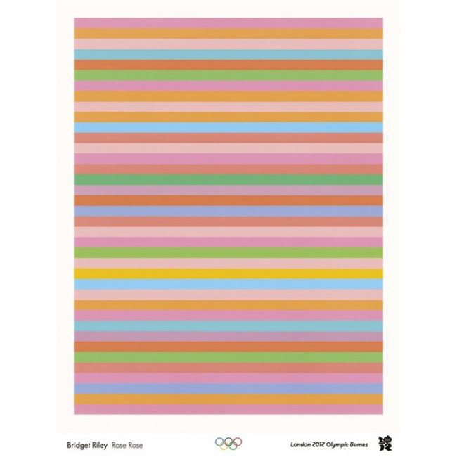 Olympic poster - Bridget Riley