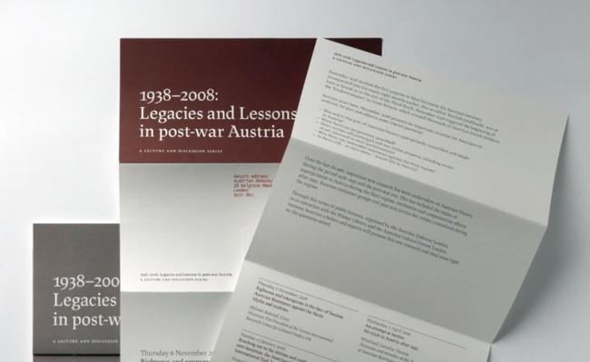 Lapture, Broschüren für das Austrian Cultural Forum London (Design - Shoko Mugikura)