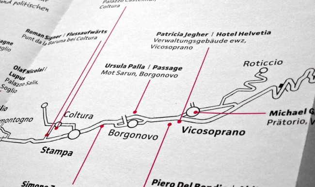 »Arte Bregaglia« (Design - Thomas Rhyner)