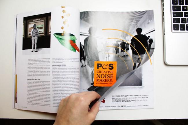 Sound Printwerbung  | Soundsticker (Wettbewerb D&AD)