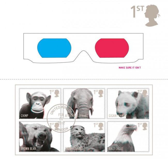 3D Briefmarken - vom Aussterben bedrohte Tiere - das könnte das letzte mal sein, diese Tiere in 3D zu sehen | 3D Briefmarken (Wettbewerb RSA)