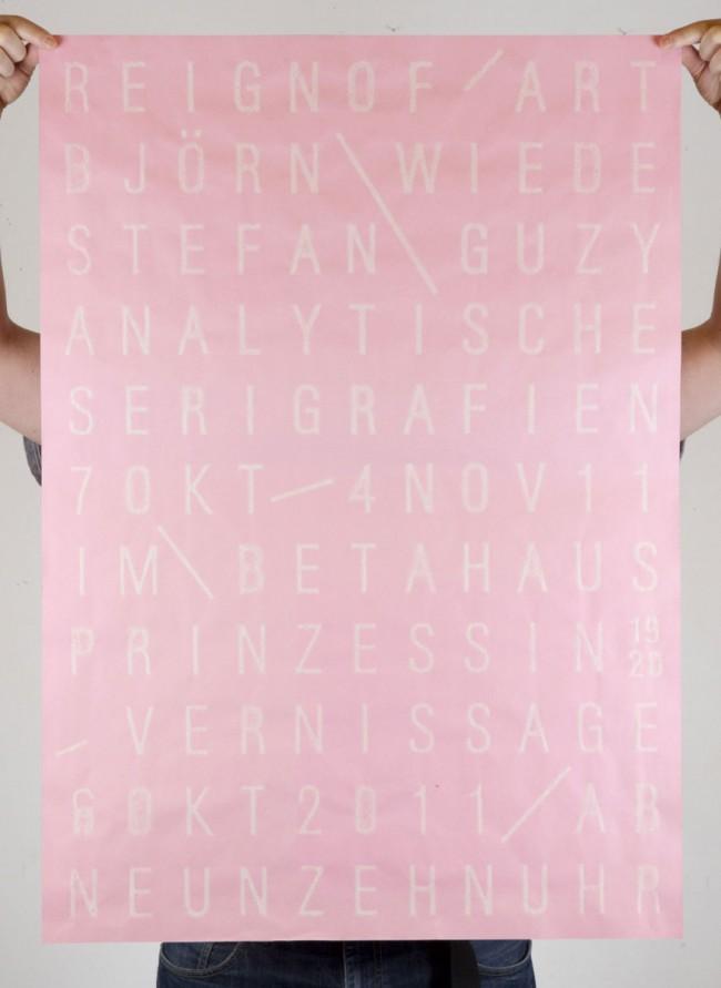 Analytische Serigrafien - Ausstellung im Betahaus Berlin (2011)