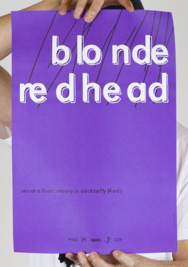 Blonde Redhead - Tourplakat (2004)