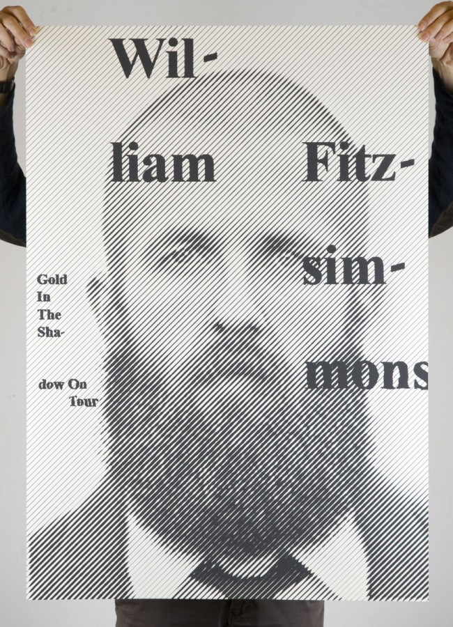 William Fitzsimmons / Gold In The Shadow - Tourplakat (2011)