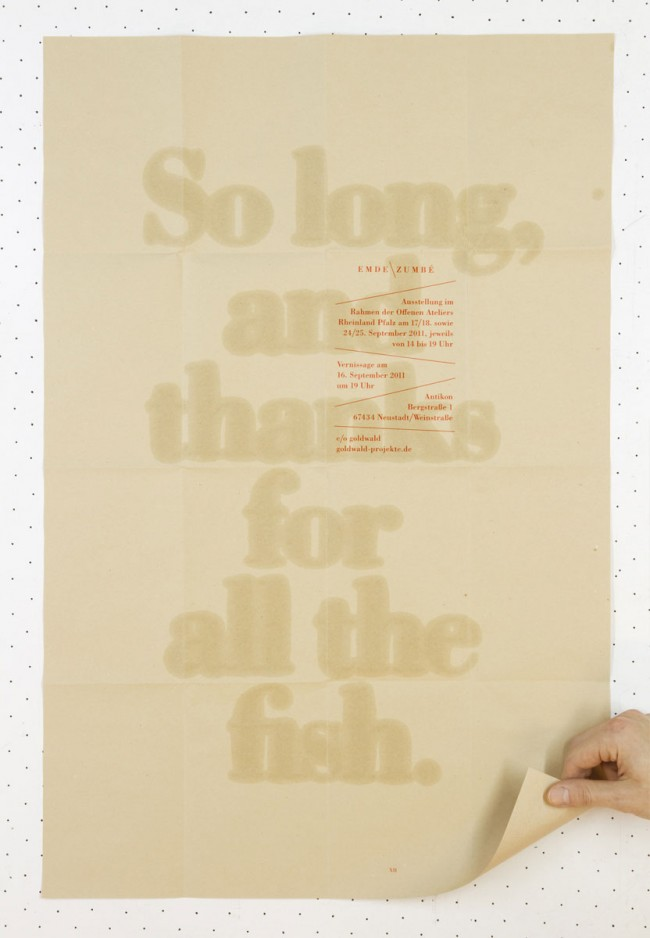 So long, and thanks for all the fish - Ausstellungsplakat (2011)
