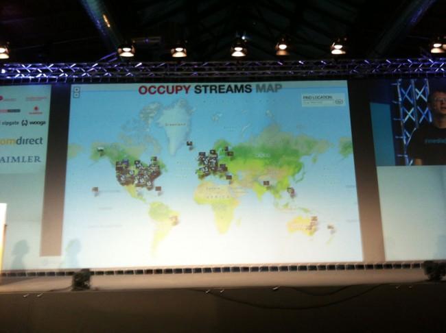 Draufklicken und den Stream finden: Occupy Streams Map