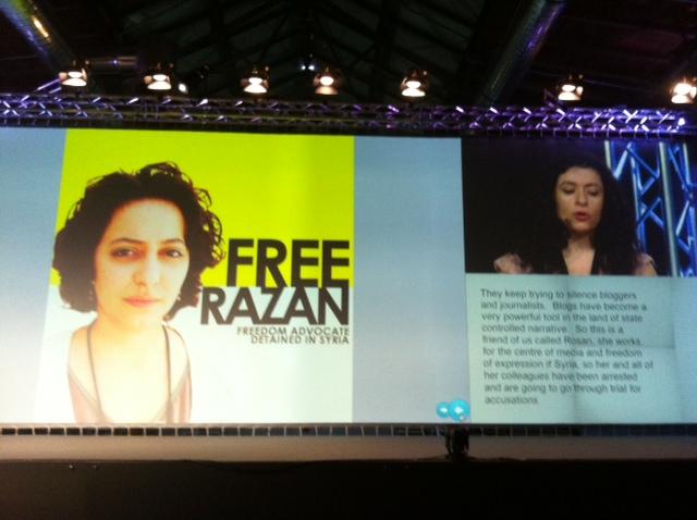 Leila Nachawati erzählt von der inhaftierten Bloggerin Razan