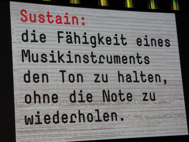 Eine Definition von sustain bei Ruedi Baur