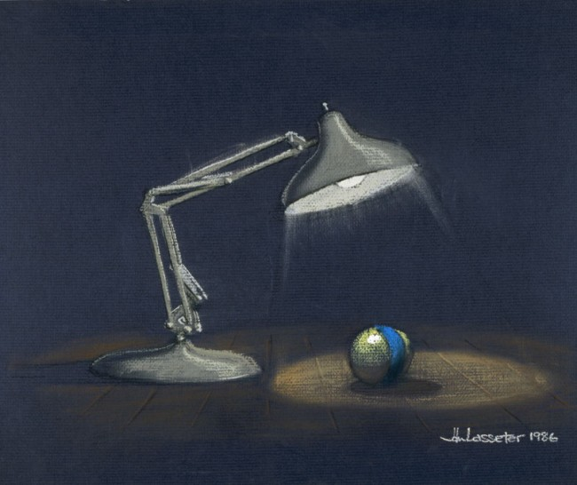 John Lasseter Luxo Die kleine Lampe, 1986 Giclée