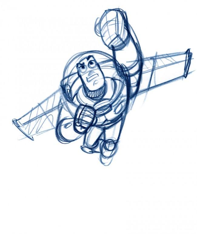Bob Pauley Buzz Toy Story, 1995 Bleistift