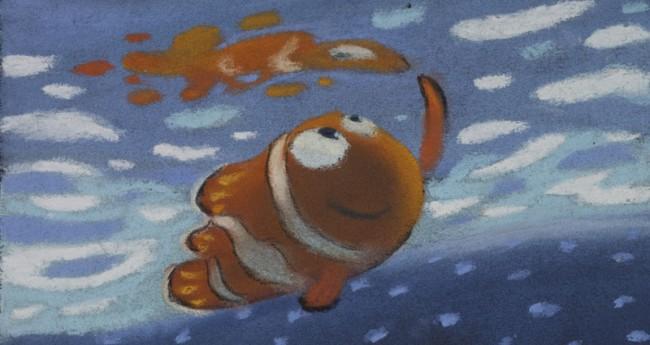 Ralph Eggleston Pastelfolge: Field Trip Findet Nemo, 2003 Pastel