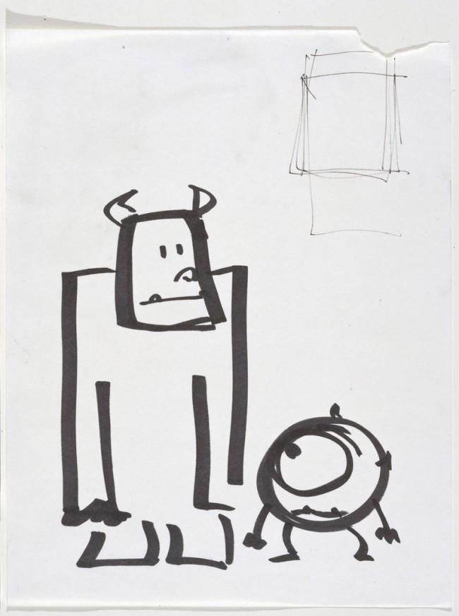 Pete Docter Sullivan und Mike Die Monster AG, 2001 Filzstift