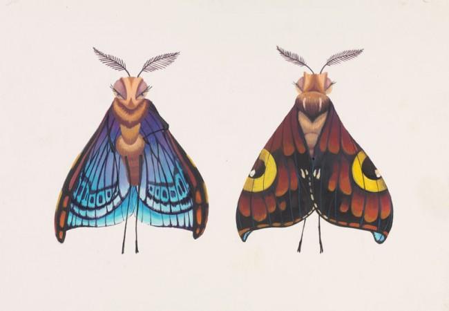 Tia W. Kratter Gypsy Final Color Scheme A Bug's Life, 1998 Acrylic