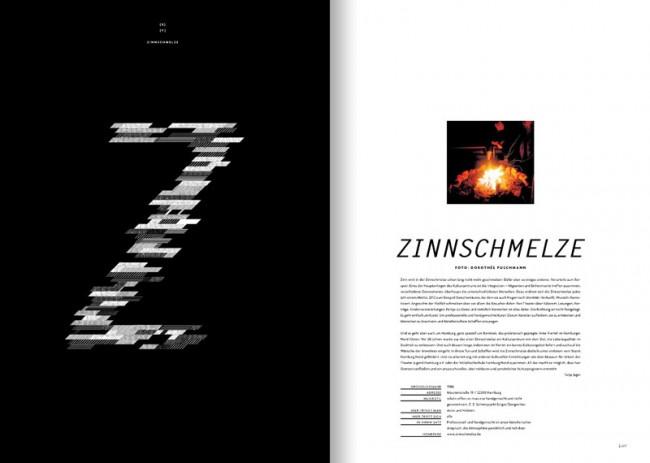 Doppelseite Z und Zinnschmelze (Dorothee Puschmann)