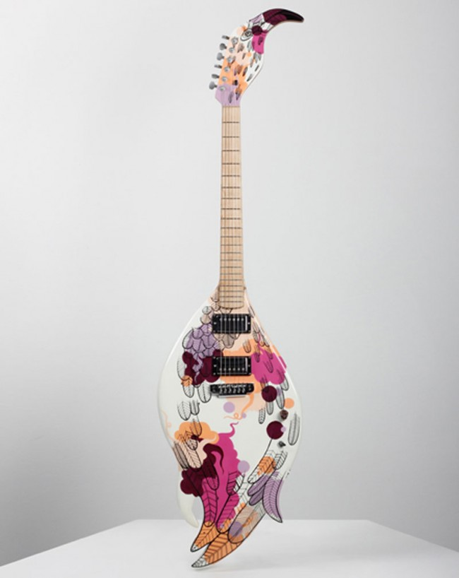 Flamingo Guitar, Product Design Collaboration mit Nick Page Guitarts & Dudes Factory