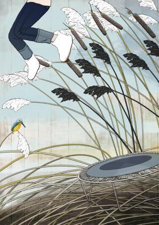 Jump (2012) | Illustrationen für die online Plattform Illustration Friday. Zu wöchentlich wechselnden Themen kann man sich hier zu freien Arbeiten inspirieren lassen und untereinander darüber austauschen.