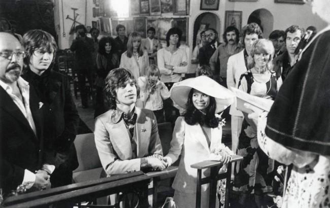 Mick & Bianca Jagger bei ihrer Hochzeit