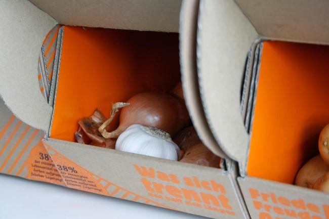 Die Aufbewahrungsboxen in Gebrauch