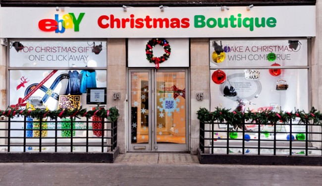 eBay Christmas Boutique in London (Dezember 2011)