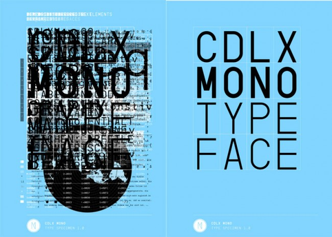 CDLXMono Typeface, erhältlich bei: http://www.youworkforthem.com/font/T1964/cdlx-mono