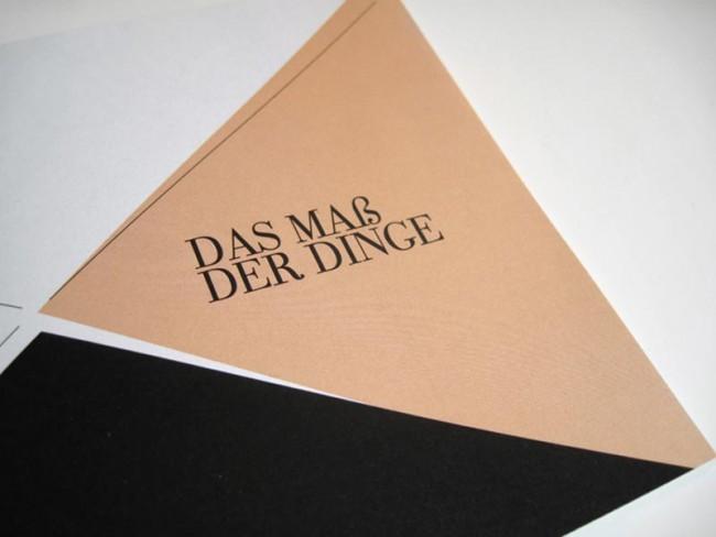 Maß der Dinge: In Form einer kleinen Broschüre wird der Weg zur FH Aachen auf besondere Art und Weise und mit viel Liebe zum Detail erzählt und interpretiert.