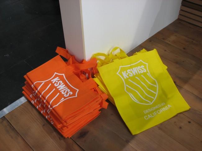 Knallgelb war die beliebtere Farbe der begehrten K-Swiss Bags