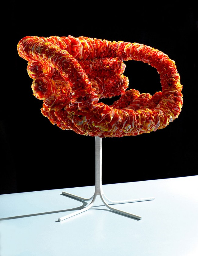 Inkuku Chair, 2006, Stahl, Plastiksäcke