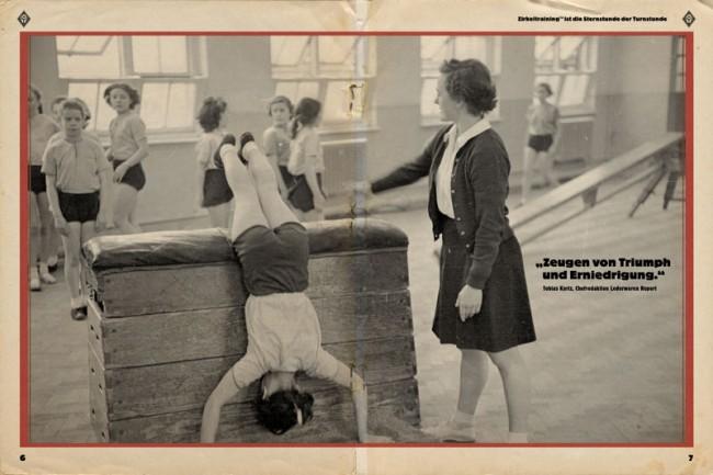 Schöne Schwarzweiß-Fotos aus dem Archiv von Getty Images erinnern einmal mehr selbstironisch an die eigene historische Turnstunde