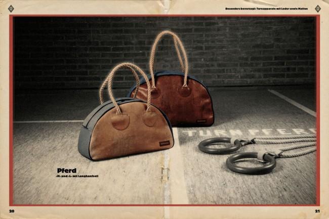 Die aus alten Bezügen und Matten hergestellten Sport- und Handtaschen, Laptop- oder iPad-Hüllen sind längst Kult