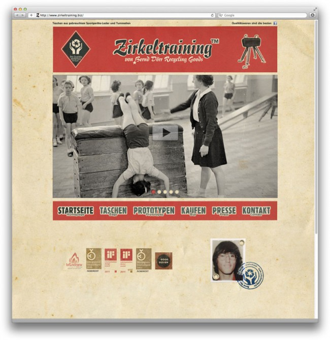 Auch auf der relaunchten Website dominiert jetzt Vintage-Rot