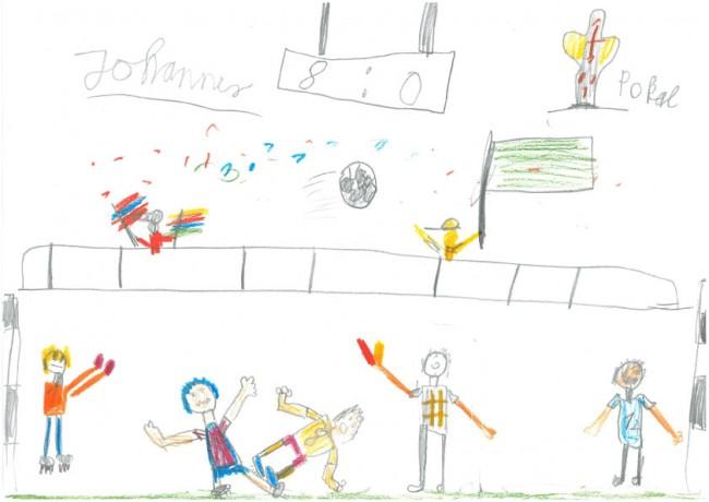 Das Fußballspiel. Von Johannes, 8 Jahre