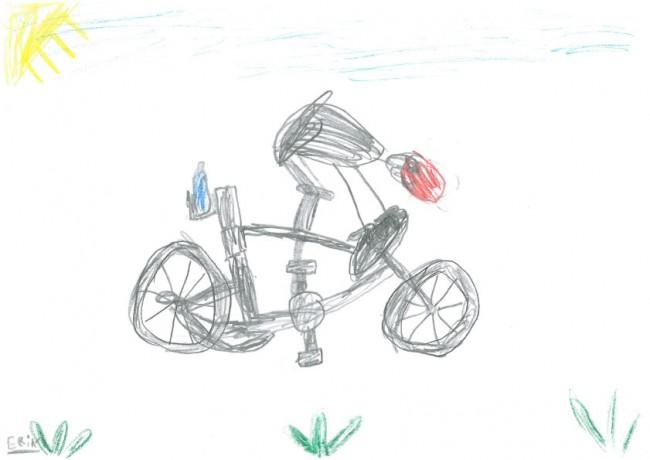 Der Radfahrer. Von Erik, 7 Jahre