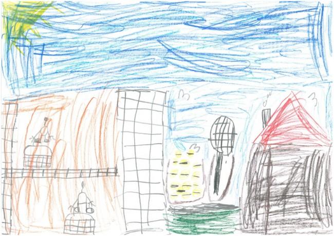 Das Tennismatch. Von Erik, 7 Jahre