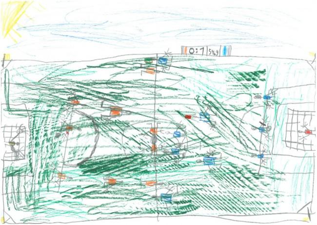 Das Fußballspiel. Von Erik, 7 Jahre